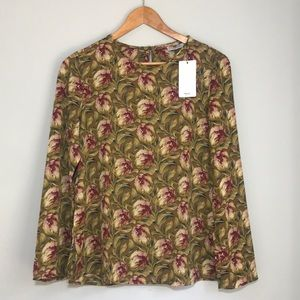 Mango Fall Floral Vintage Inspired Blouse